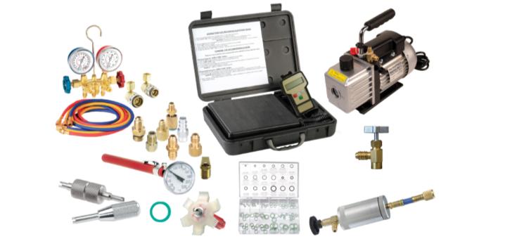 9287 Vacuum Pump, Gauge Set, Electronic Scale and Installer Assortment