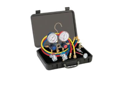 6785 R-134a Aluminum Manifold Gauge Set and Tool Assortment